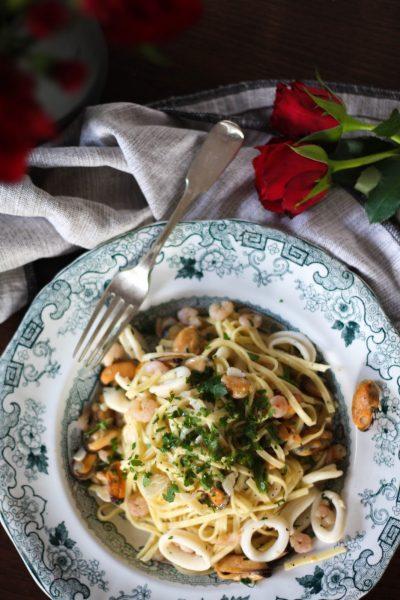 Valentine's Day menu: Delicious seafood tagliatelle