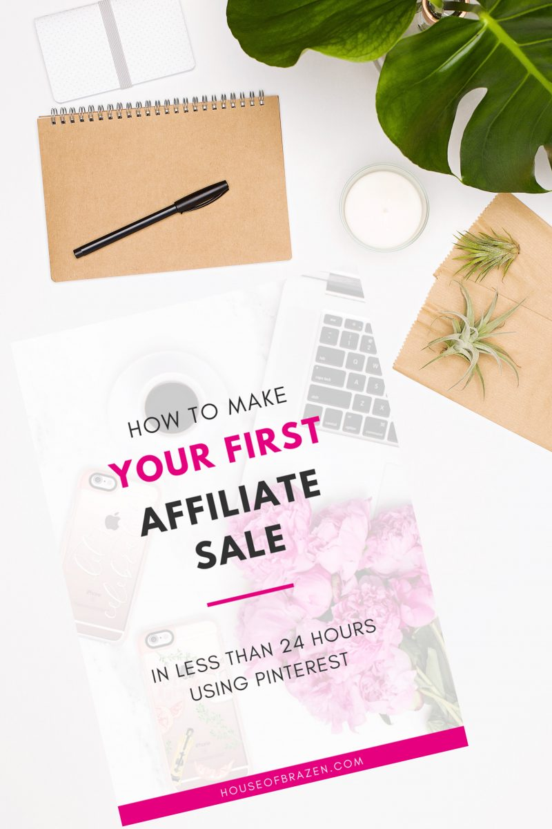 How to make your first affiliate sale ebook