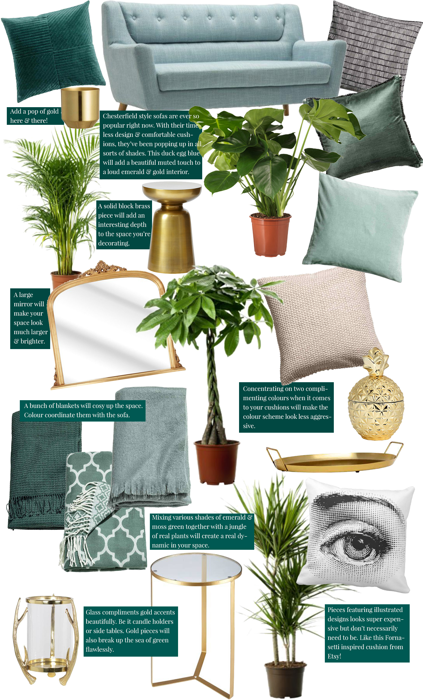 Recreate the Pin: Dark luxury & moss green