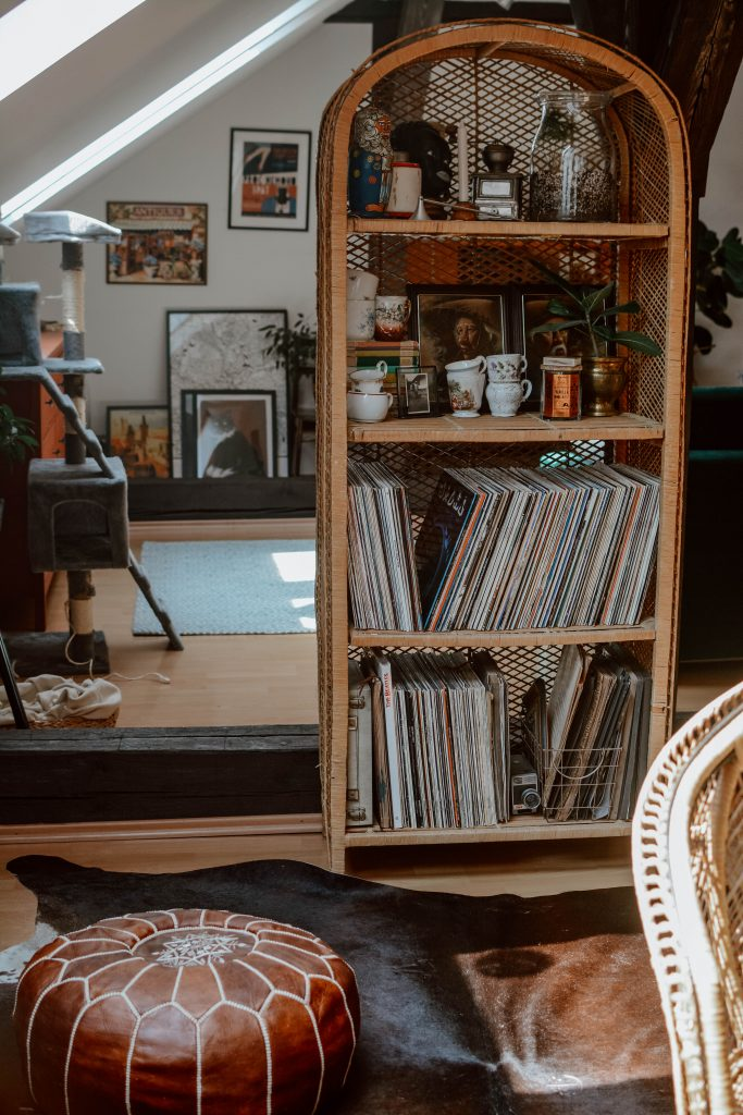 Apraguement 101: Halabala turntable cabinet and vinyl collection storage inspiration